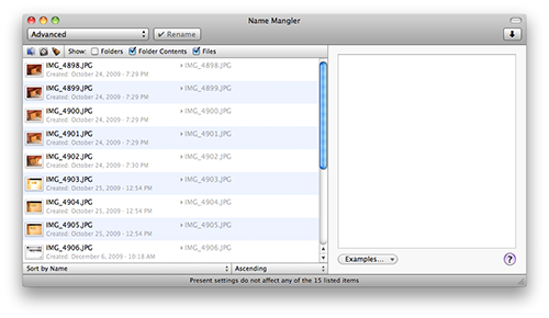 How to: Add dates/times to filenames with Name Mangler
